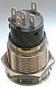 Кнопка антивандальна d22mm різьблення 19mm h32mm 5 контактів індикація, фото 2