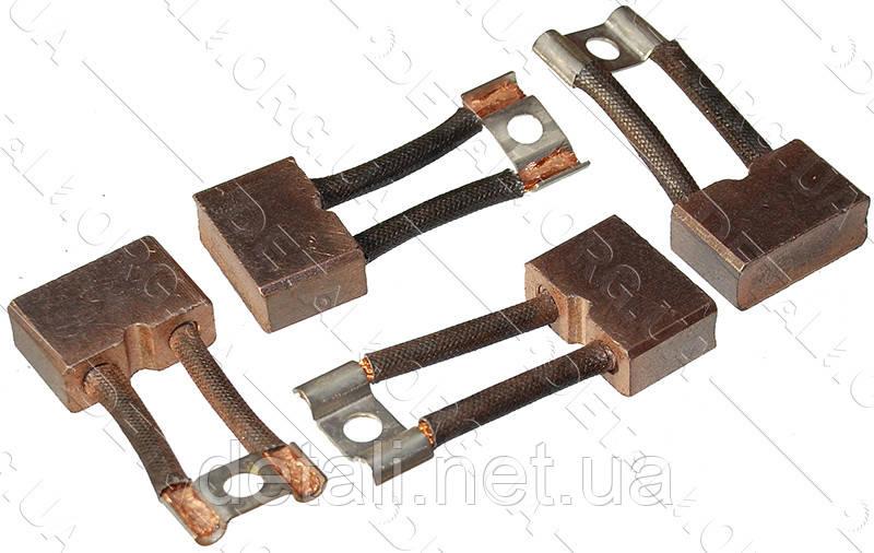 Щетки меднографитовые 10х25х17 выход сверху кольцо 2 провода (4 шт)