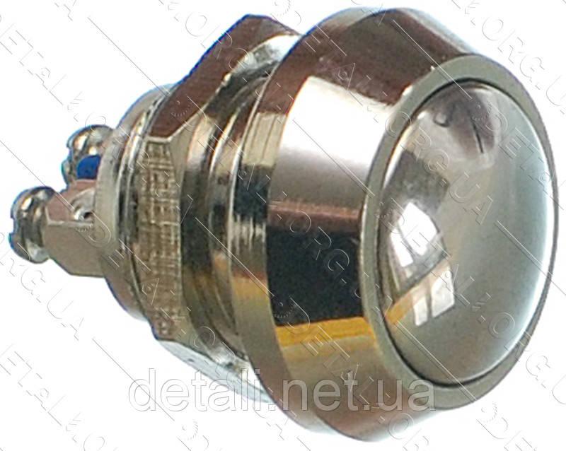 Кнопка антивандальна d18mm різьблення 12mm h17mm 2 контакту під гвинт