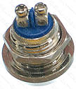 Кнопка антивандальна d18mm різьблення 12mm h17mm 2 контакту під гвинт, фото 2
