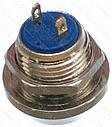 Кнопка антивандальна d18mm різьблення 12mm h16mm 2 контакту, фото 2