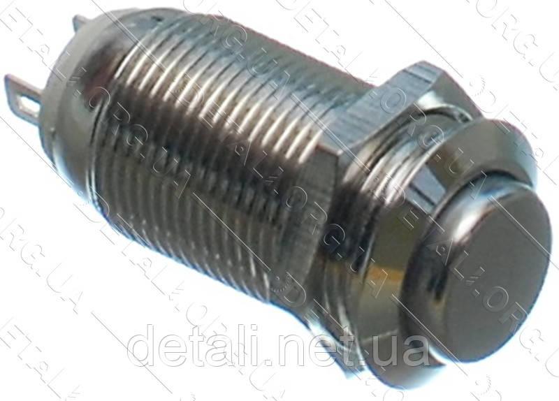 Кнопка антивандальная d14mm резьба 12mm h25mm 2 положения 2 контакта