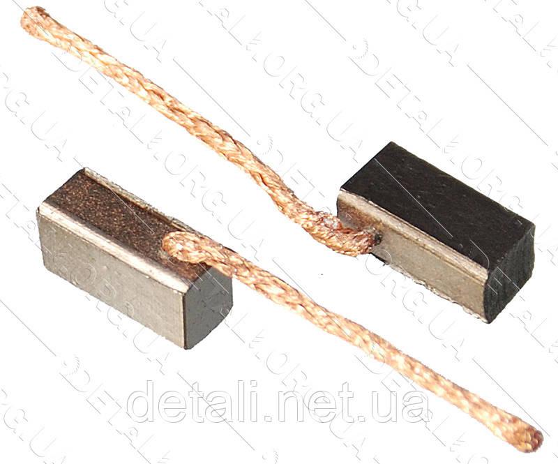 Щітки меднографитовые 5х6х12 вихід збоку (2 шт)