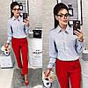 Рубашка женская в горошек и полоску. Размер 42/44, 44/46, фото 2