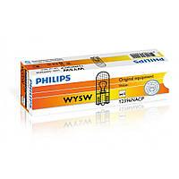 Лампа накаливания Philips WY5W, 10шт/картон 12396NACP