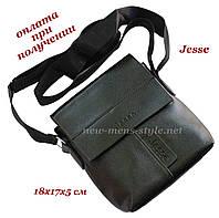 Мужская фирменная чоловіча кожаная сумка борсетка барсетка через плечо Jesse, фото 1