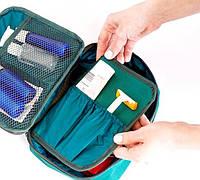 Дорожный органайзер для косметики с отстегивающимся кармашком Organize C011 зеленый R176418