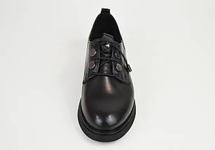 Туфли женские кожаные черные Euromoda 930, фото 3
