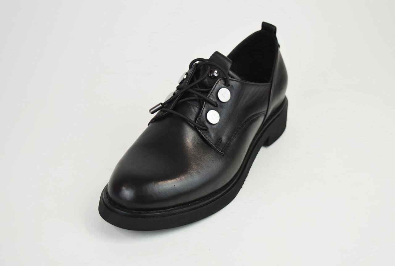 Туфли женские кожаные черные Euromoda 930