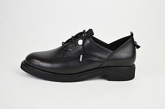 Туфли женские кожаные черные Euromoda 930, фото 2