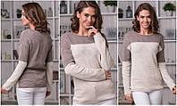Стильный женский вязаный теплый свитер. Арт - 2678/5, фото 1