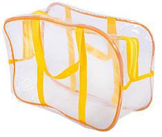 Компактная прозрачная сумка в роддом, для игрушек Organize, желтый R176425