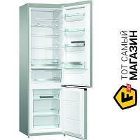 Двухкамерный холодильник Gorenje NRK6201MX4 no frost (в морозилке) нержавеющая сталь