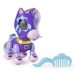 Интерактивный пони Лилак - 10см, Серия 1 (свет+звук+сенсоры) - Zoomer Zupps Pretty Ponies, Lilac, 4+