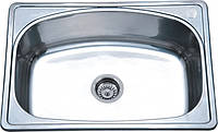 Кухонная Мойка Platinum-6045 из Нержавейки-0,6 мм Сатин,Сифон+Крепления
