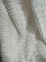 Покрывало плед Микрофибра размер 200х230 см цвет белый на кровать, диван