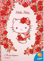 """Набор белого картона """" Hello Kitty"""" (10листов/10цветов)"""