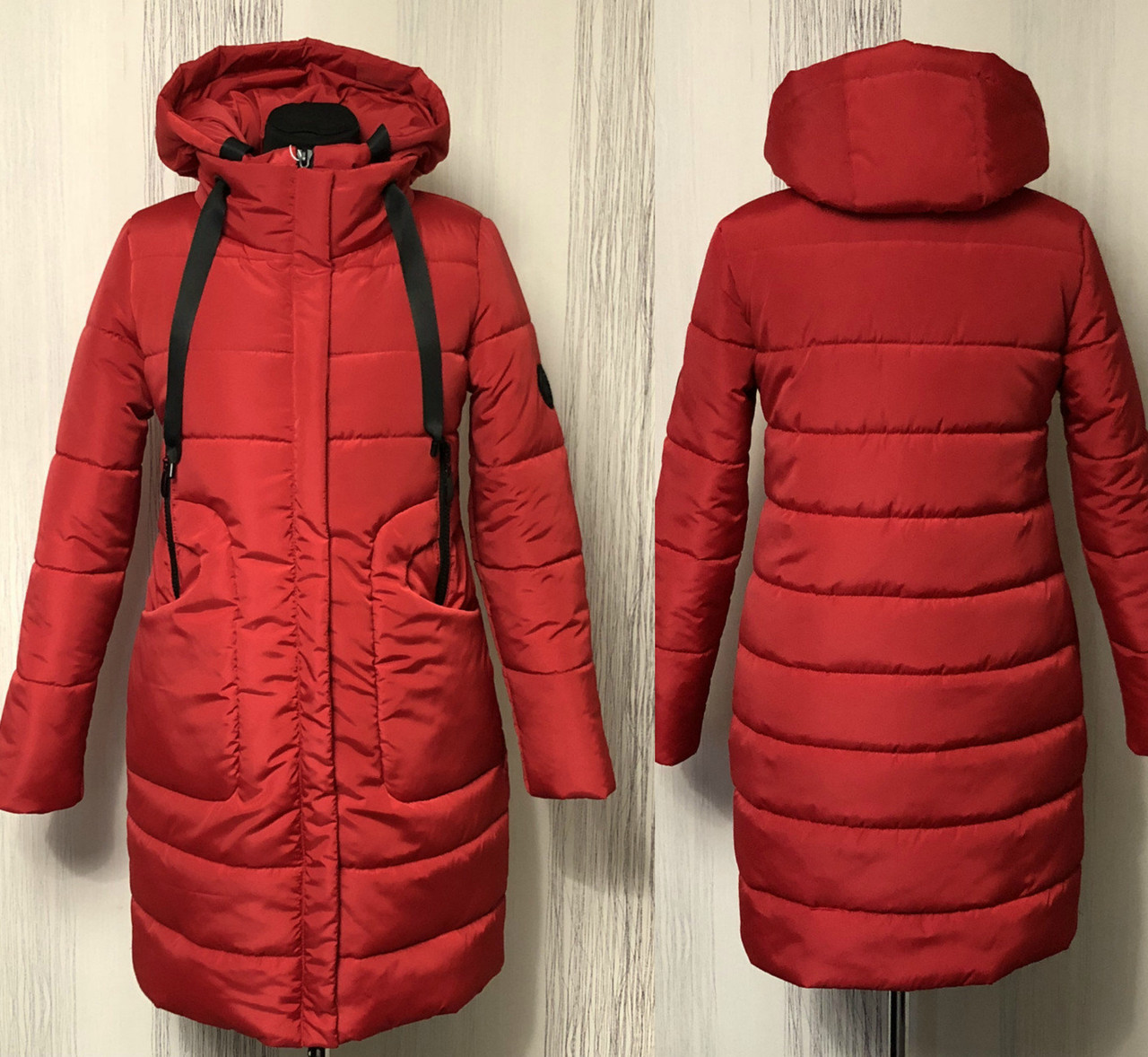 Яркая женская куртка пуховик зимняя