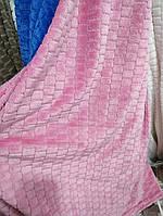 Плед покрывало Микрофибра ALBO 200х230 см Розовое (P-F3-5-2)