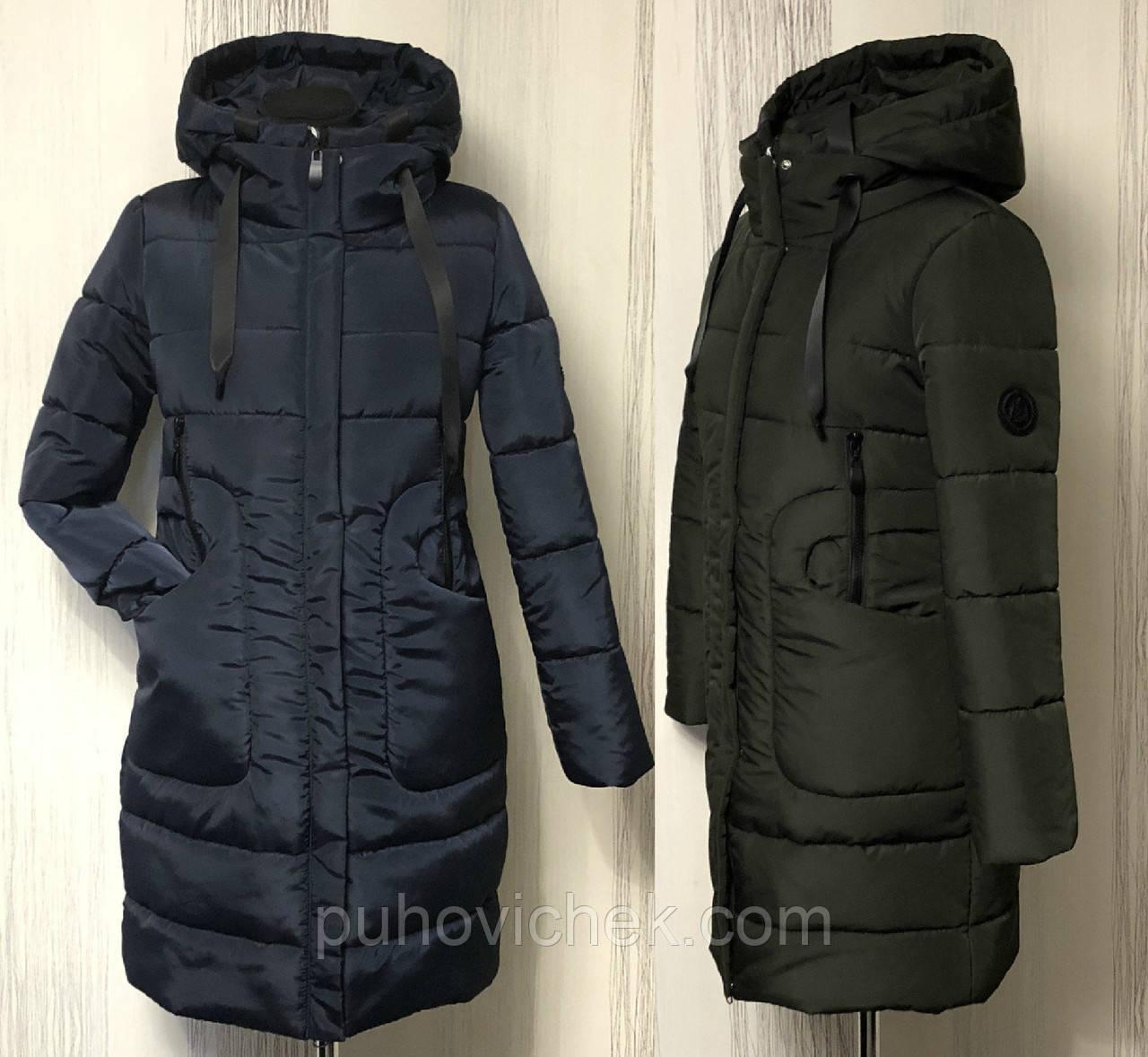 Зимова жіноча куртка новинка з капюшоном
