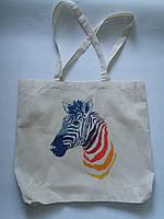 Эко-сумка из хлопка с рисунком Зебра