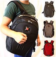 Городской удобный рюкзак 31 л, Swissgear 7212 USB & AUX,  черный