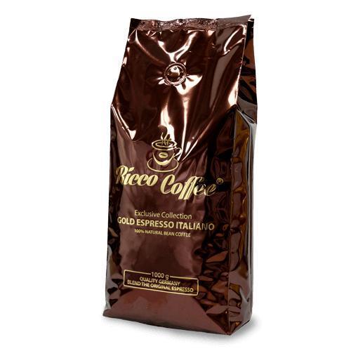 Кофе в зернах Ricco Coffee Gold Espresso 1 кг 30% Арабика  70% Робуста