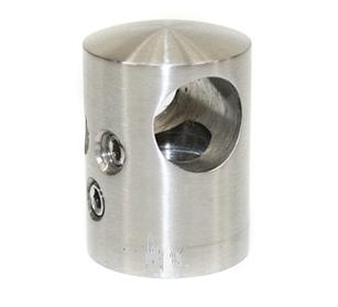 KLC-11-10-01 Кріплення ригеля до квадратної труби, наскрізний, для стику ригелів, під ригель 12 мм