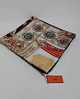 Шелковый женский  Платок брендовый. 95*95 см .