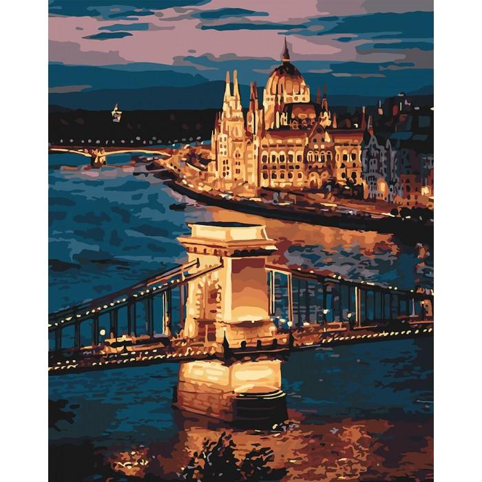 Рисование по номерам Волшебный Будапешт KH3557 Идейка 40 х 50 см