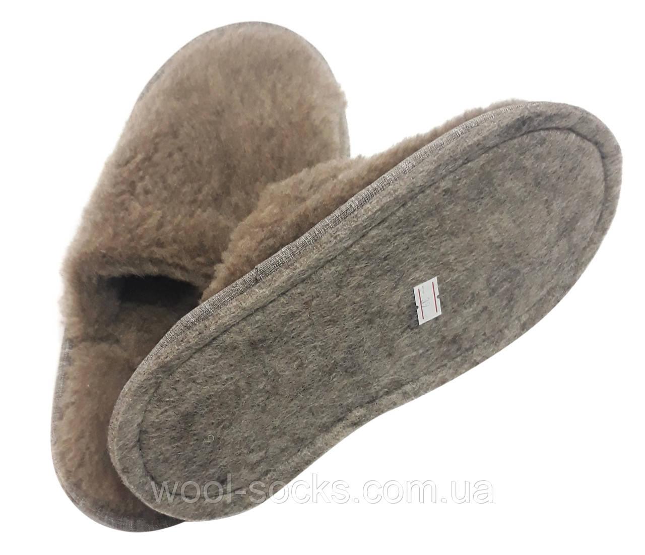 Тапочки из овчины коричневые