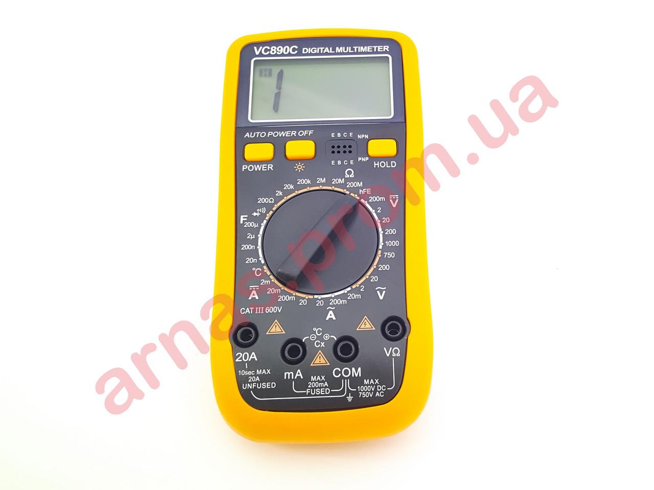 Мультиметр (тестер) VC890C цифровой