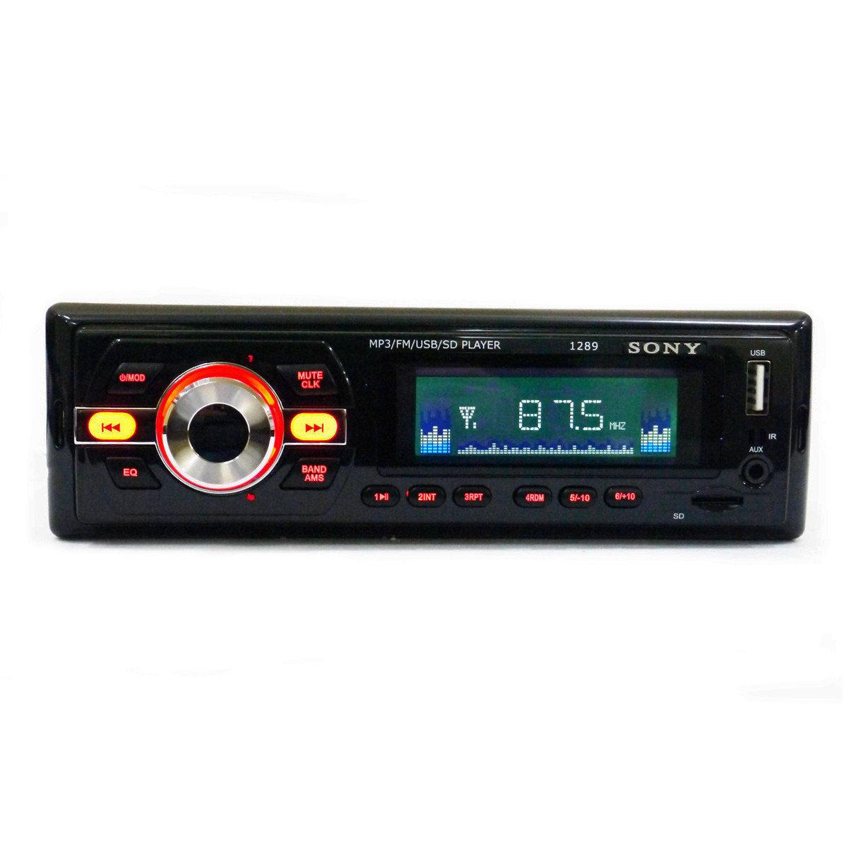 Автомагнітола в машину 1DIN Caraudio 1289 ISO + пульт ДК+MP3+FM+USB