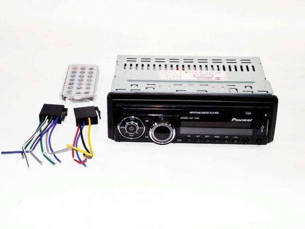Автомагнитола Pioneer 1092 Съемная панель Usb+Sd+Fm+Aux+ пульт