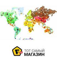 Планшет Janod Карта мира-стикер с животными, 101 магнит (J02850)