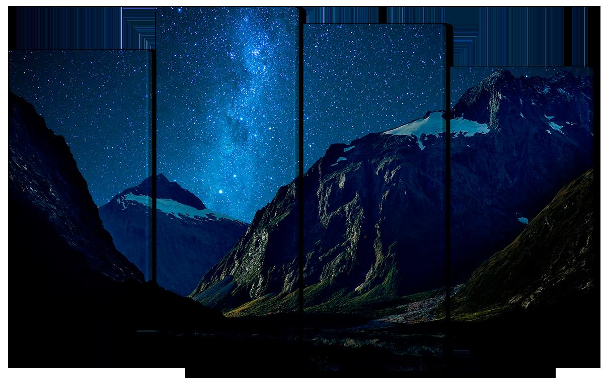 Модульная картина Interno Эко кожа Ночные горы 114х69см (A1560М)