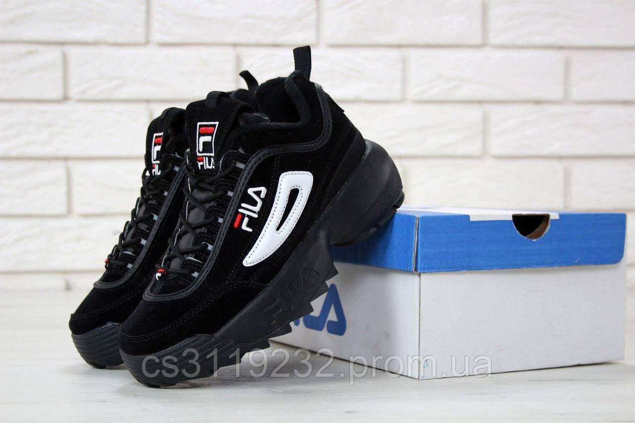 Женские кроссовки Fila Disruptor (черные)