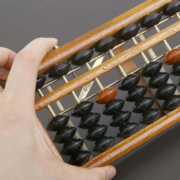 Профессиональный стандарт счеты Soroban Abacus абакус соробан дерево с кнопкой сброса 17 рядов Game toys