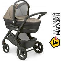 Модульная (3 в 1) коляска- книжка одноместная CAM Dinamico Up Smart 3в1 бежевый/серий (897T/V90/990/650K) бежевый, темно-серый