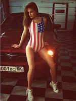 """Купальник сдельный """"Американский флаг"""", фото 1"""