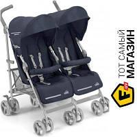 Прогулочная коляска- трость двухместная CAM Twinf Flip Синий (850/27) темно-синий