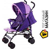 Прогулочная коляска- трость одноместная Quatro Mini №9 Violet/Pink фиолетовый