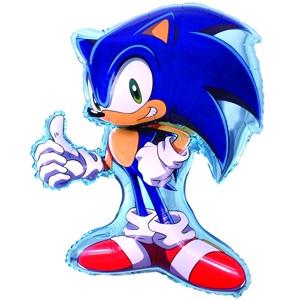 Фольгированный шар Соник 98см х 78см Синий
