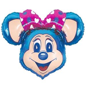 Фольгированный шар Супер мышка 76см х 96см Голубой