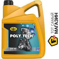 Всесезонное моторное масло Kroon Oil для двигателей тип бензиновый, дизельный 5w-40 5 Poly Tech 5W-40 5л (36140)