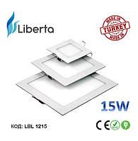 Светодиодная панель встраиваемая квадратная Liberta Турция 15W