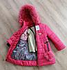 Детские зимние куртки для девочек с натуральным мехом  28-36 персиковый, фото 5