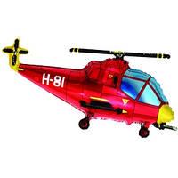 Фольгированный шар Вертолет 57см х 96см Красный