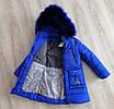 Детские зимние куртки для девочек  с натуральным мехом  28-36 розовый, фото 4