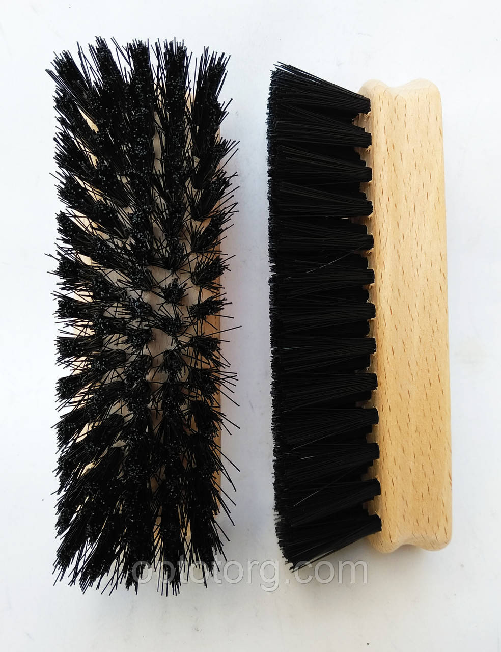 Щетка для обуви черная 12*4 см качество